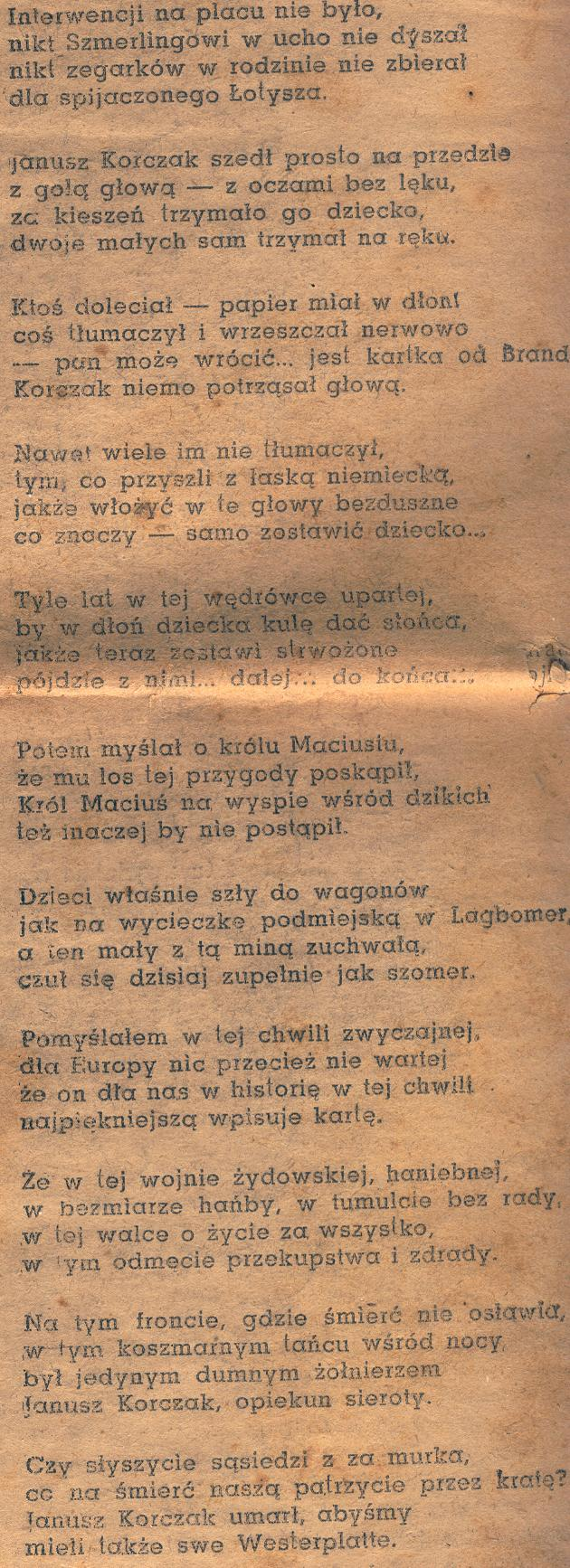 Wladyslaw Szlengel The Ghetto Poet